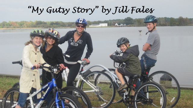 Jill Fales and her children