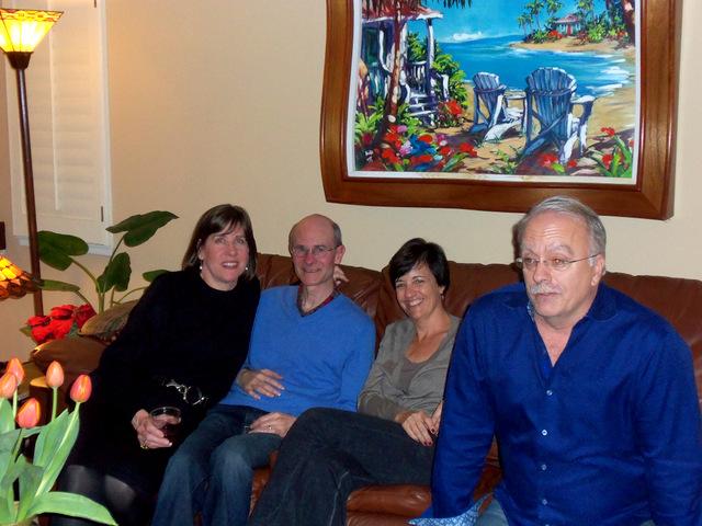 Pam, John, Jennifer and her husband.
