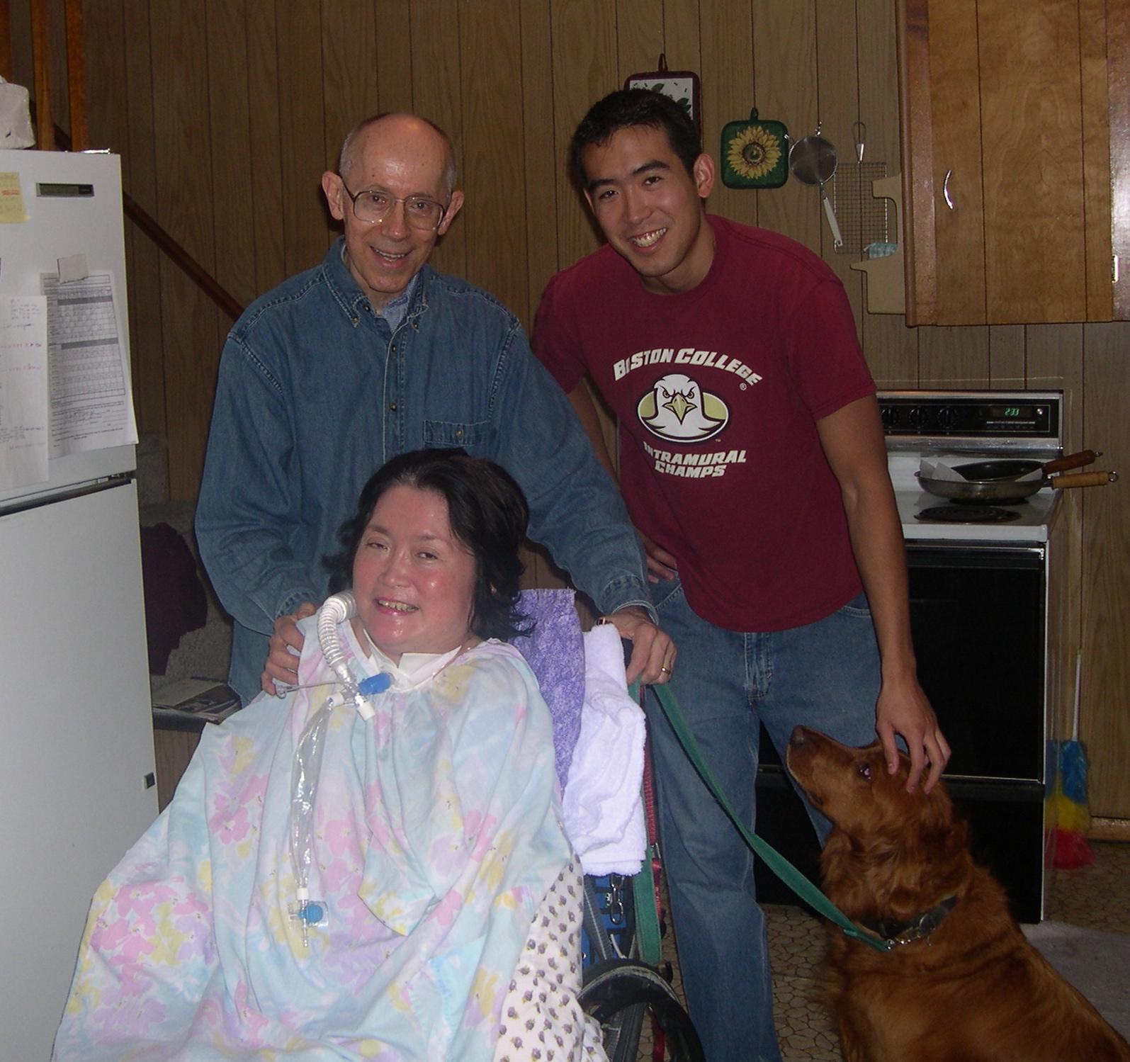 Doug his wife, Tina and his stepson