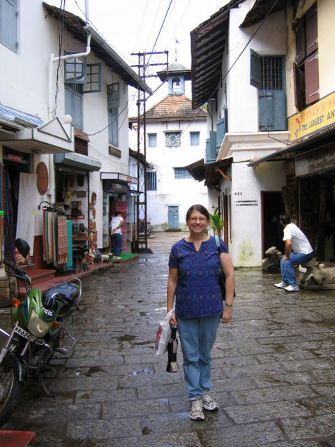 Cochin on way back from synagogue in Jew Town.