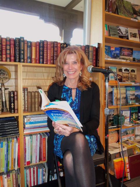 Sonia Presenting Malibu Bank of Books