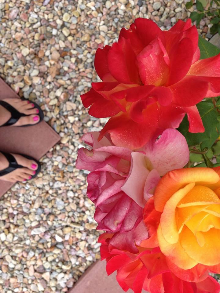 Winner of the Flip-Flops & Painted toenails contest