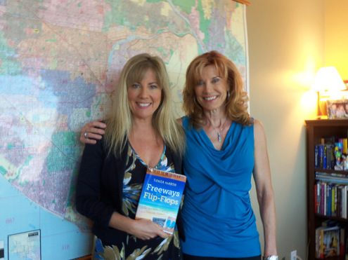 "Maria Hall Brown PBS SoCal- ""Real Orange"" and Sonia after my interview."