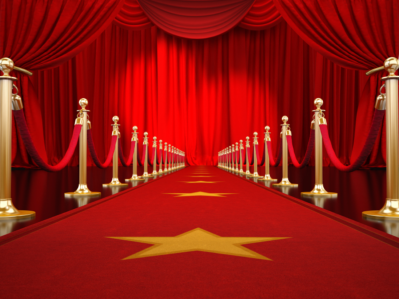 "Red carpet is ready for ""Bring Out the Gutsy in You"" event."