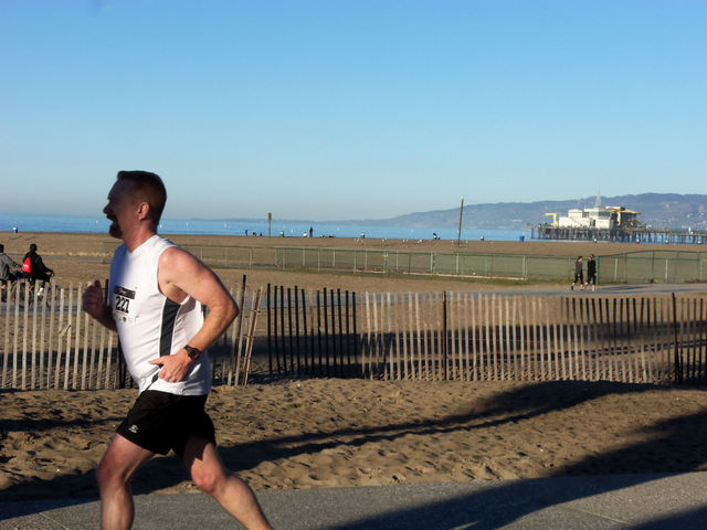 Duke in Santa Monica 10K race