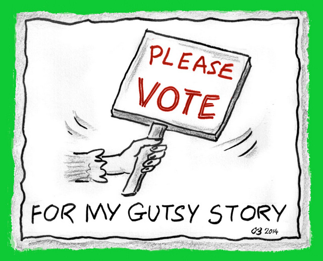 Vote for my gutsy story hand