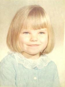 Leanne in elementary school