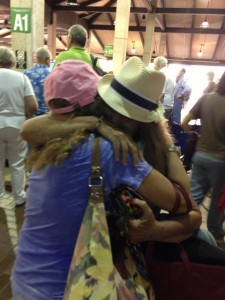 Mariana hugging Danelle