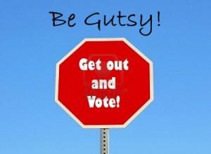 VOTE BE GUTSY BADGE