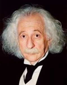 Benny as Einstein impersonator
