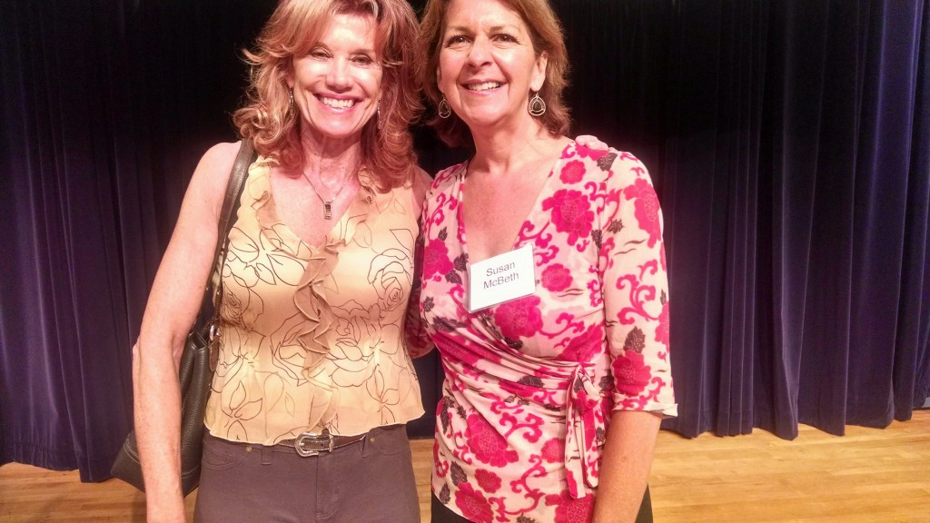 Sonia Marsh with Susan McBeth at PWSD meeting