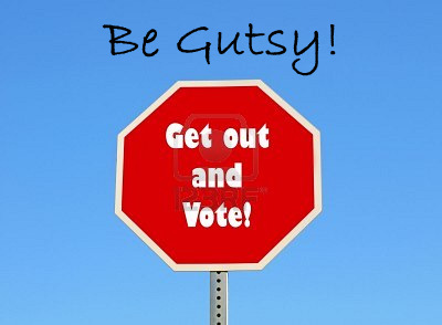 VOTE BE GUTSY BADGE