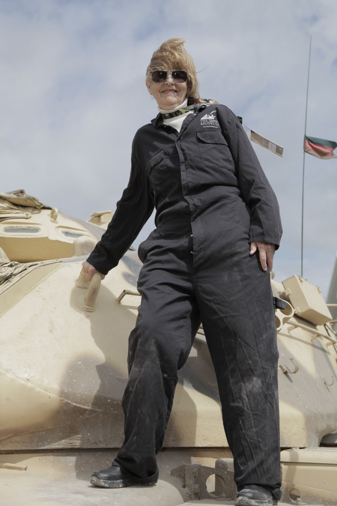 "A ""Gutsy"" 79-year-old drives a FV432 Armoured Personnel Carrier"