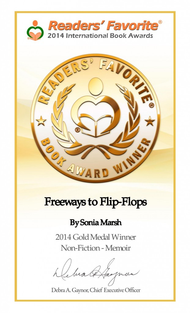 Readers' Favorite Awards-2014 Gold Medal for My Memoir
