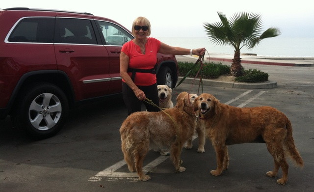 Donna Friess and her dogs