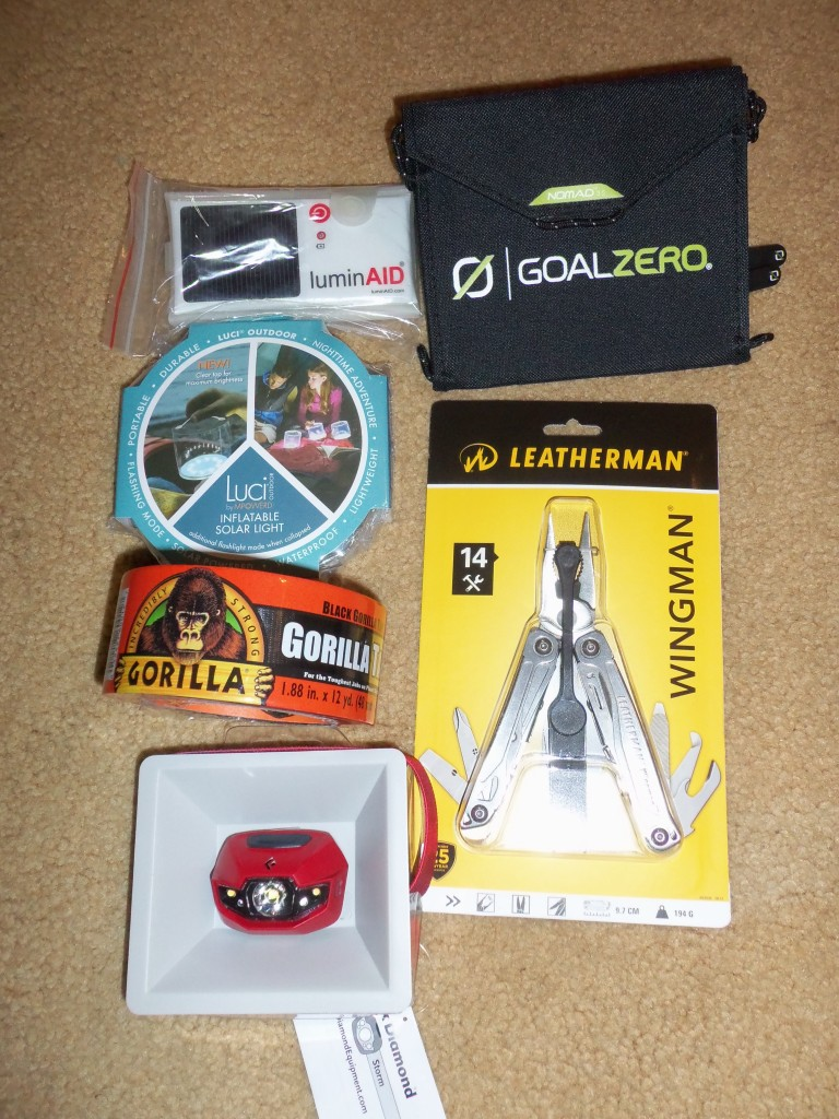 A Leatherman, Goal Zero, Gorilla Tape. Packing for Peace Corps