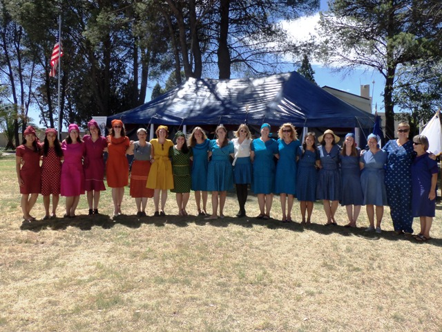 PCVs in their Seshoeshoe dresses