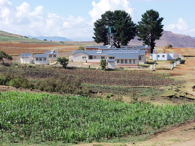 The American built clinic in a rural village in Lesotho, southern Africa