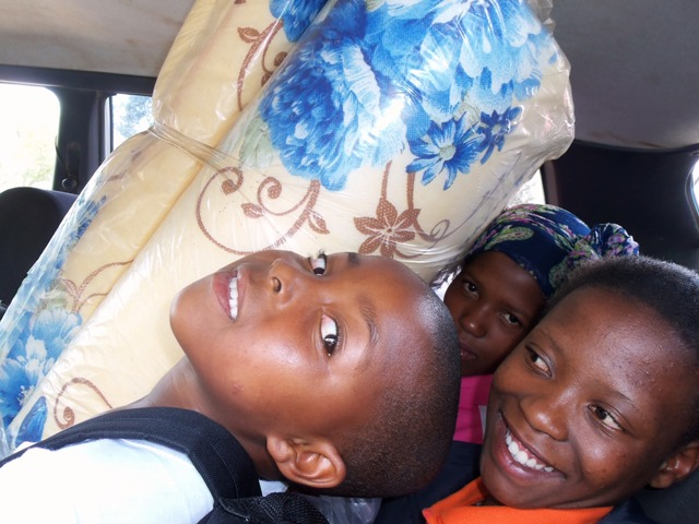 This is one taxi I took with my Basotho reatives.