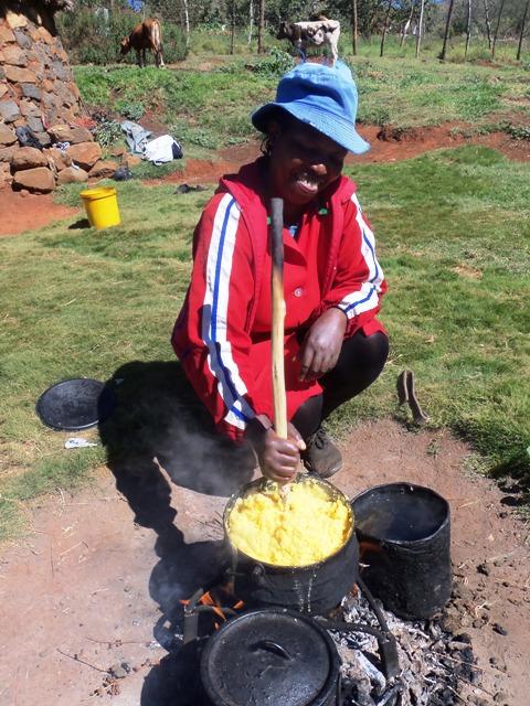Madam cooking Papa