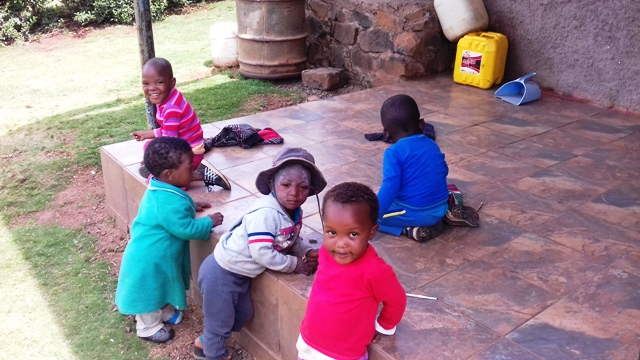 Children in My Village in Lesotho