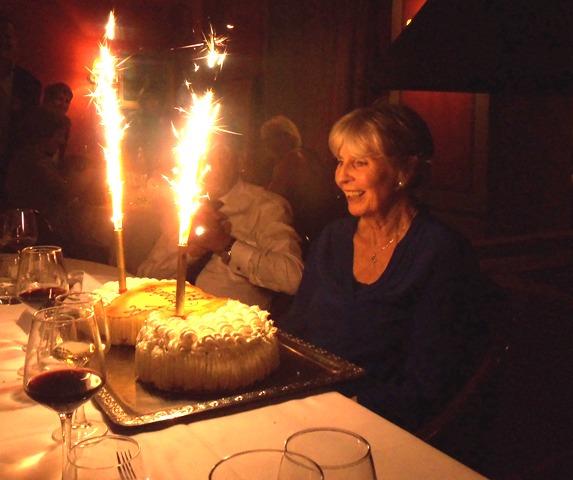 "Jill's ice cream ""fireworks"" cake"