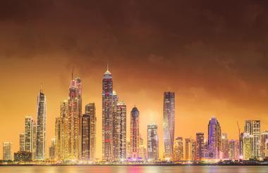 Dubai City Lights at night